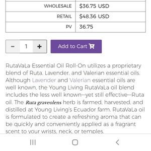 Young Living Other - Rutavala roll on essential Oil 10 ml